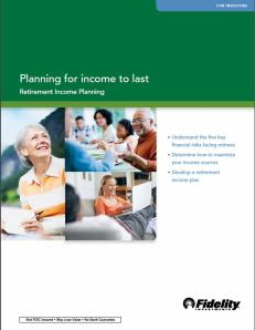 Fidelity planning for income to last
